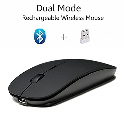 da52f86396c Cliry 2018 New Arrival Wireless 2.4Ghz + Bluetooth 4.0 Dual Mode  Rechargeable Mouse 1600 DPI