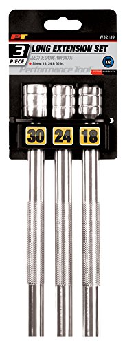 Performance Tool W32139 1/2-Inch Drive Long Extension Set, 3-Piece 3 Piece Extra Long Extension