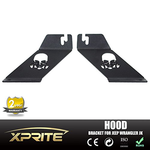 Xprite Topfire Jeep Wrangler JK 20 - 22 Inch LED Light Bar Hood Mounting Brackets