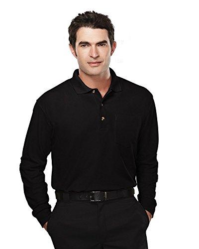 Tri-Mountain Mens PolyCotton Spartan Pique Knit Golf Shirt