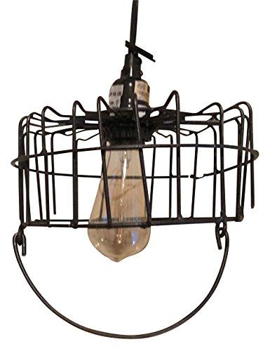 Vintage Wire Egg Basket Pendant Light (Black)