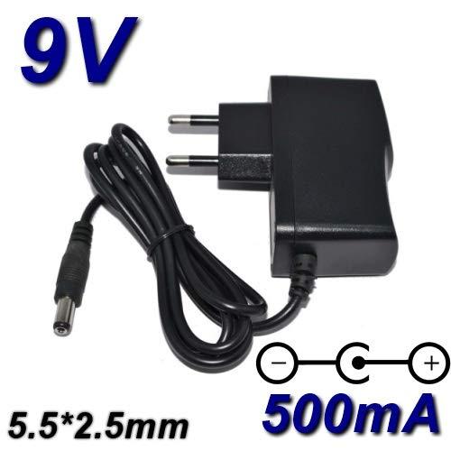 5,5mm Adaptateur Secteur Alimentation Transfo Chargeur Sortie Output DC 9V 500mA 0.5A 4.5W Certification CE Connecteur TOP CHARGEUR 2,5mm
