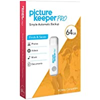 Picture Keeper PRO 64GB Portable Flash Drive Photo Video Music or Doc File Backup USB Device for PC or MAC Computers