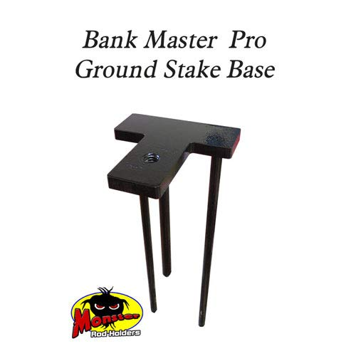 Monster Rod Holders Bank Master Pro with 8'' Tall Corner T Base and Ground Stake Included Made in America (Bank Master Pro 8'')