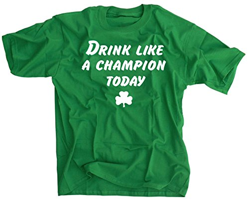 Drink Like A Champion Today Shirt - Small - St. Patrick's Day Notre Dame Fans