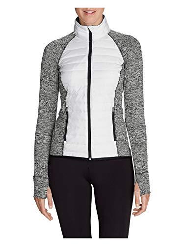 Primaloft Insulation - Eddie Bauer Women's IgniteLite Hybrid Jacket, White Regular L