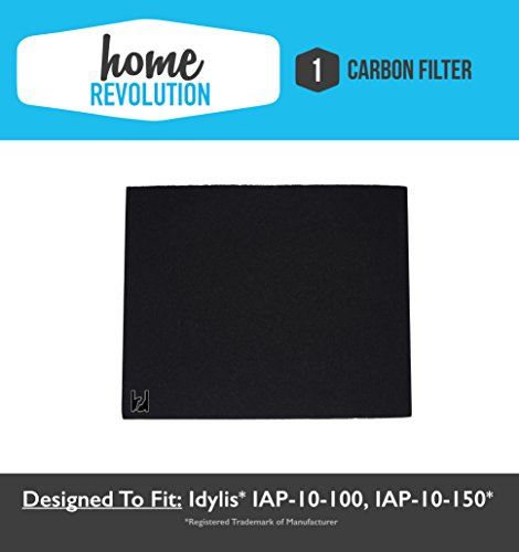 Idylis A Home Revolution Brand Replacement Carbon Filter; Fits Idylis Air Purifiers IAP-10-100, IAP-10-150, Model No.IAF-H-100A and 302656