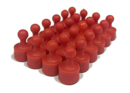 24 Pawn Magnetic Push Pins - Perfect Fridge Magnets, Whiteboards, and Maps -