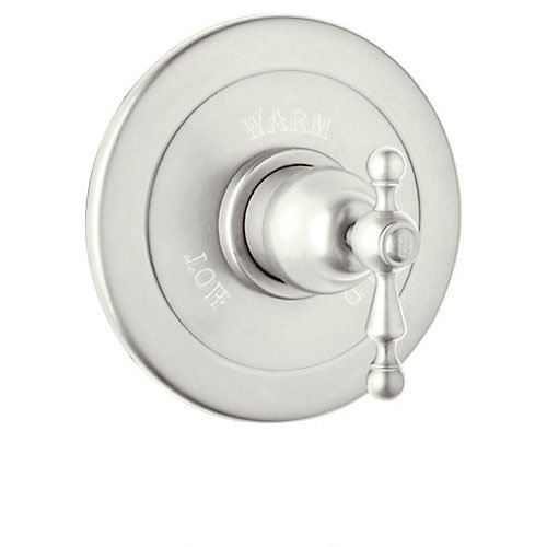 Rohl AC600L-PN Cisal Shower Valve Trim with Ornate Metal Lever Handle, Polished - Brass Cisal Cisal Wall