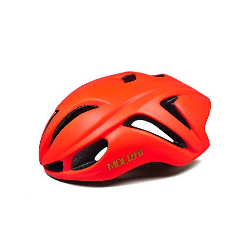 Molizhi Bike Helmet Low Air Resistance Cycling Helmet for Teens and Student Road Bike Mountain Bicycle, Size Adjustable (orange) For Sale