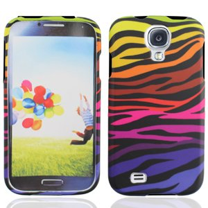 LF Colorful Zebra Designer Hard Case Cover, Lf Stylus Pen and Lf Screen Wiper Bundle Accessory for Samsung Galaxy S Iv 4 / -
