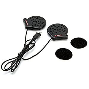 UCLEAR Digital Boost Plus (Formerly V2) Wired Speaker Set for Full Face Helmet compatible with AMP, HBC100 PLUS, HBC150 and HBC200 Bluetooth Headset Series (NOT HBC100 or Vybe)