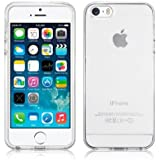 iPhone 5 / 5s / SE Custodia, SDTEK Cover Case Bumper Caso Trasparente Crystal Clear Silicone Gel per iPhone 5 / 5s / SE