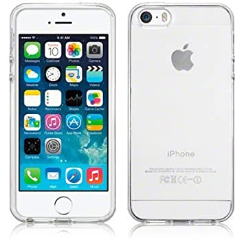 pretty nice 97be1 2cc3e SDTEK Case for iPhone 5 / 5s / SE Clear Gel Transparent Soft Premium Case  Cover [Silicone TPU]