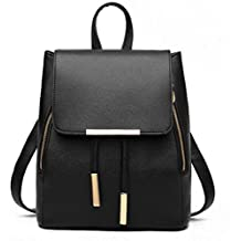 Women Convertible Business/Travel Leather Backpack/Handbag-Black