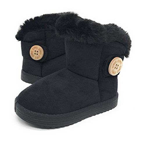 irls Faux Fur Mid Calf Warm Boots,Black42,Size 12 (Faux Fur Kids Boots)