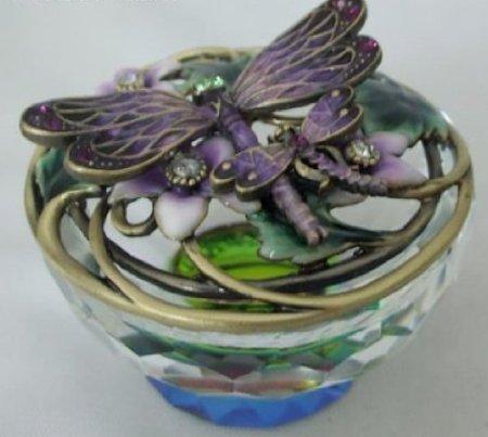 Purple Jeweled Dragonfly Jewelry Box (Dragonfly Jeweled Box)