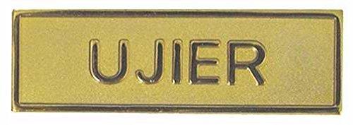 - Swanson Christian Supply 080632 Usher Pin Back Rectangle Gold Spanish - Badge