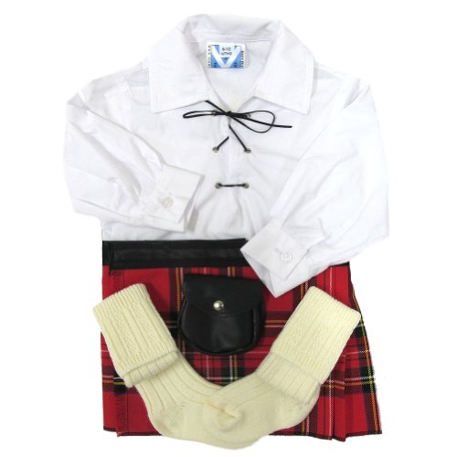 TrewscotsBabies' Royal Stewart Kilt Outfit Age 6 - 12 Months by Trewscot