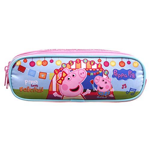Estojo de 3 Divisórias, Peppa Pig, Dermiwil, 37469, Colorido