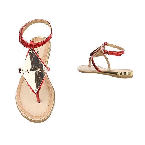 Mujer Zapatos con Design Rojo tacón Ital qURSw6S