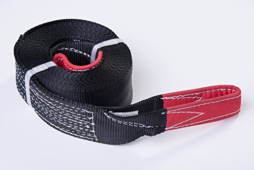 Premium Winch Recovery Tow Strap By Alfa Wheels - 3