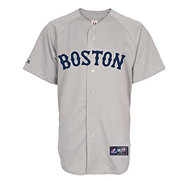 new york 9a74f 653f8 Amazon.com : Majestic Dustin Pedroia Jersey: Youth Road Grey ...