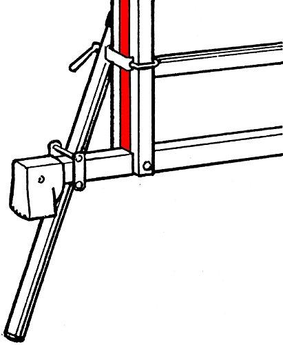 f/ür gerade und gebogene Traversen, stufenlos verstellbar, f/ür Holmgr/ö/ße 60-89 mm Hymer Fu/ßverl/ängerung f/ür Traversen 5650