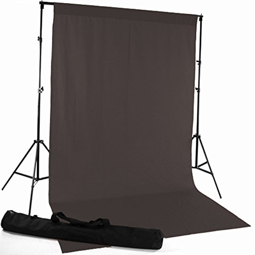 Charcoal Gray Fabric Photography Backdrop - 5ft(w) x 9ft(h) - Wrinkle-Resistant, Studio Background]()