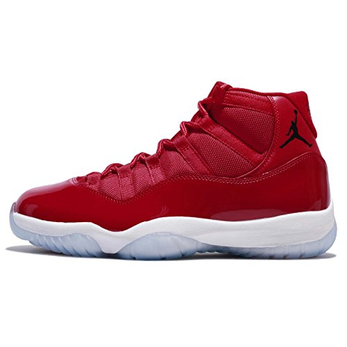 Jordan Mens Air 11 Retro, Gym Red/Black-White, 8 M US