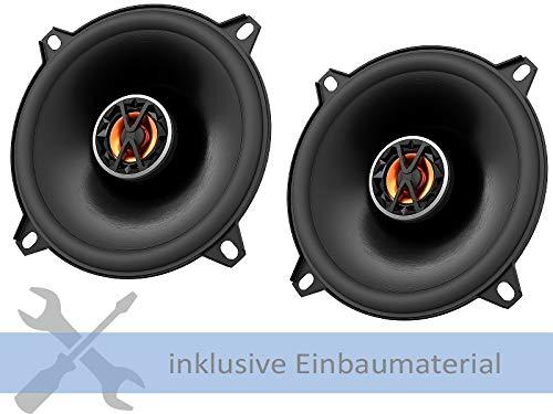 JBL Lautsprecher CLUB5020 13cm 240 Watt inkl Einbauset f/ür Peugeot 106 3//5 T/ürer ab 09//1991 T/üren vorne
