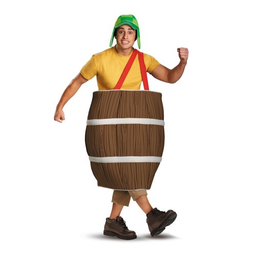 Disguise El Chavo Deluxe Barrel Adult Costume, Brown, XX-Large/50-52