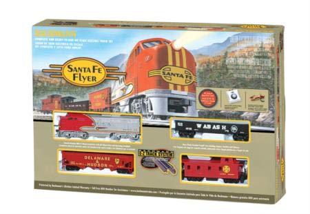 - Bachmann Trains Santa Fe Flyer Ready-to-Run HO Scale Train Set