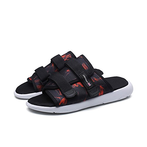 Leggero Walking Shoes Sandali Pantofole uomo Beach traspirante 014 sandali velcro Outdoor Toe in da Casual Summer ELLANM dYqzUxXY