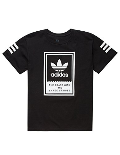 ADIDAS Classic Boys T-Shirt, Black, Large