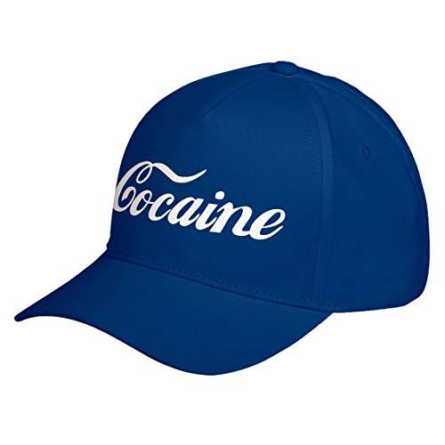 Hat Cocaine Royal Blue Adjustable Unisex Baseball Cap