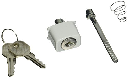 MINTCRAFT 58410-UW Key Lock Push Button, White