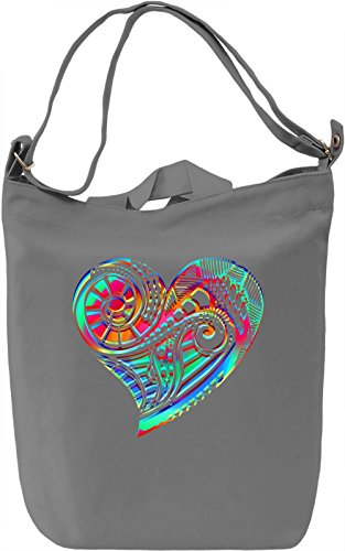 Psychedelic Heart Borsa Giornaliera Canvas Canvas Day Bag| 100% Premium Cotton Canvas| DTG Printing|
