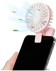 Nezylaf Mini Handheld Fan for Phone Pink Pink