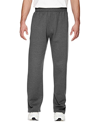 Fruit of the Loom Best Collection Men's Fleece Elastic Bottom Pant,CHARCOAL HEATHER, XL ()