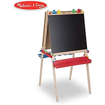 Amazon.com: Arkmiido Kids Easel with Paper Roll Double-Sided ...