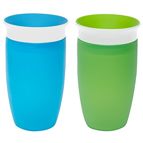 Munchkin Miracle 360 Sippy Cup, Green|Blue, 10 Ounce, 2 Count