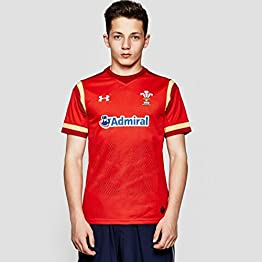 Under Armour Pays de Galles WRU 2016/17 Enfants - Maillot de Rugby à Domicile - Rouge/Or
