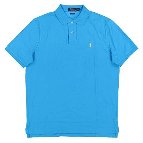 Polo Ralph Lauren Mens Classic Mesh Polo Shirt (XXL, Lake ()
