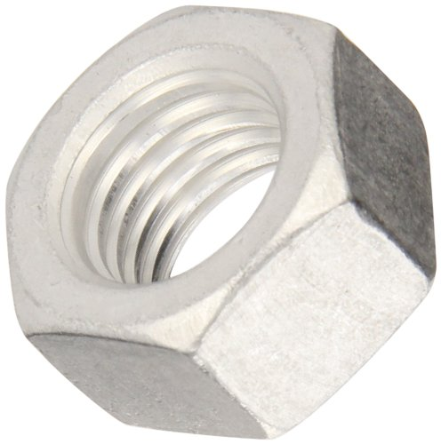 (Aluminum Hex Nut, Plain Finish, ASME B18.2.2, 1/2
