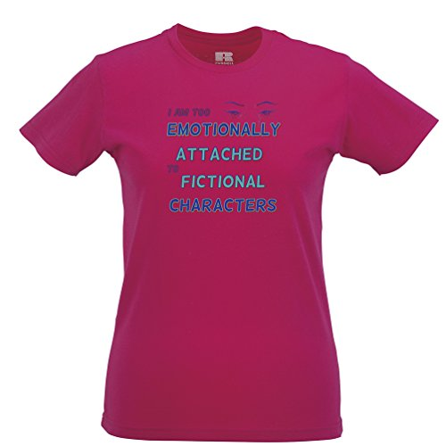 Too Emotionally Attached To Fictional Characters Womens T-Shirt (Female X Men Characters)