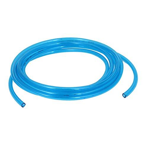 Air Fuel Gas Polyurethane PU Tube Pipe Clear Blue 8mmx5mm 3Meter (Polyurethane Tube)