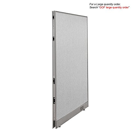 GOF Office Partition Custom Built Workstation Wall Office Divider (30w x (Freestanding Portable Partition)