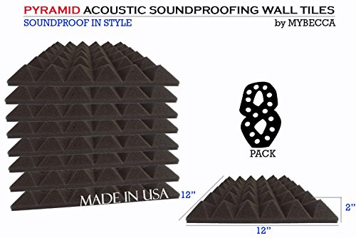 mybecca-8-pack-premium-pyramid-2-inch-acoustic-foam-studio-soundproofing-sound-isolation-wall-tiles-