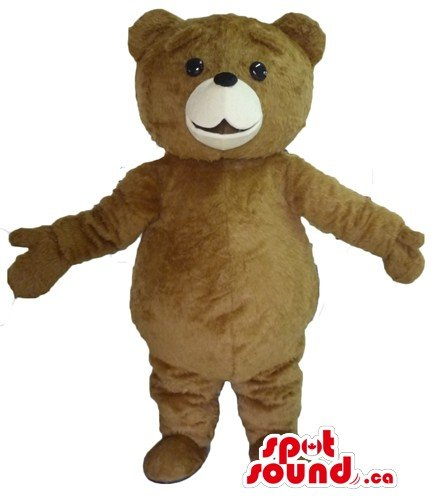 Mascots Costumes Canada (Cute Brown Grizzly Teddy Bear SpotSound Mascot US costume fancy dress)